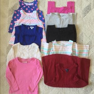 10 Pieces of Clothes for Girls, Size 3 & 4